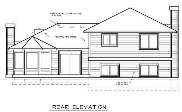 Rear Elevation Plan: 1-212