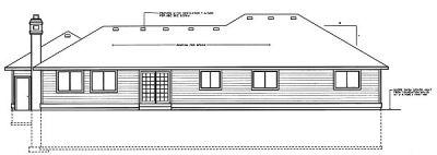 Rear Elevation Plan: 1-213