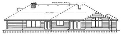 Rear Elevation Plan: 1-214