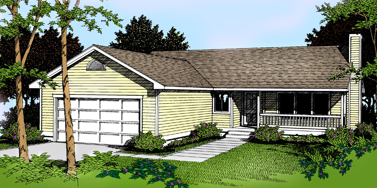 Country Style Floor Plans Plan: 1-215