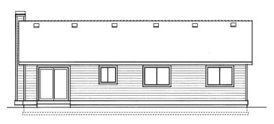 Rear Elevation Plan: 1-215
