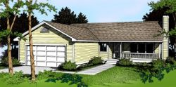 Country Style Home Design 1-215