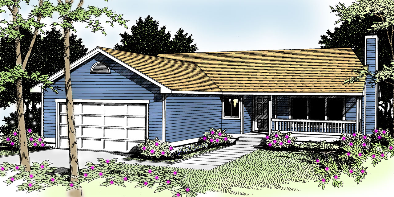 Country Style Floor Plans Plan: 1-216