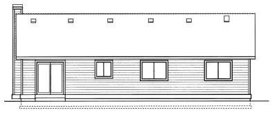 Rear Elevation Plan: 1-216