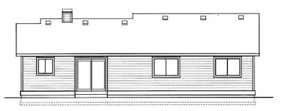Rear Elevation Plan: 1-217