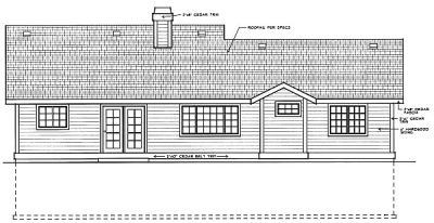 Rear Elevation Plan: 1-218