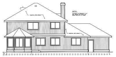 Rear Elevation Plan: 1-219