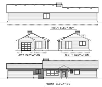 Rear Elevation Plan: 1-222