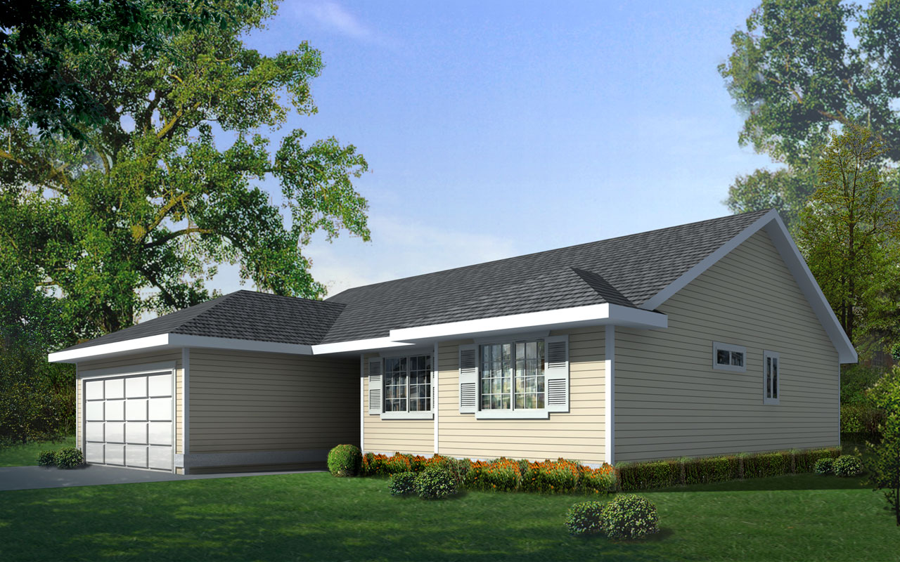Traditional Style Home Design Plan: 1-223