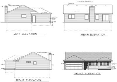 Rear Elevation Plan: 1-223