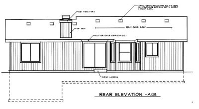 Rear Elevation Plan: 1-224