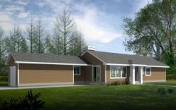 Ranch Style House Plans 1-225