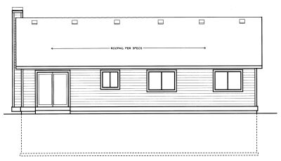 Rear Elevation Plan: 1-227