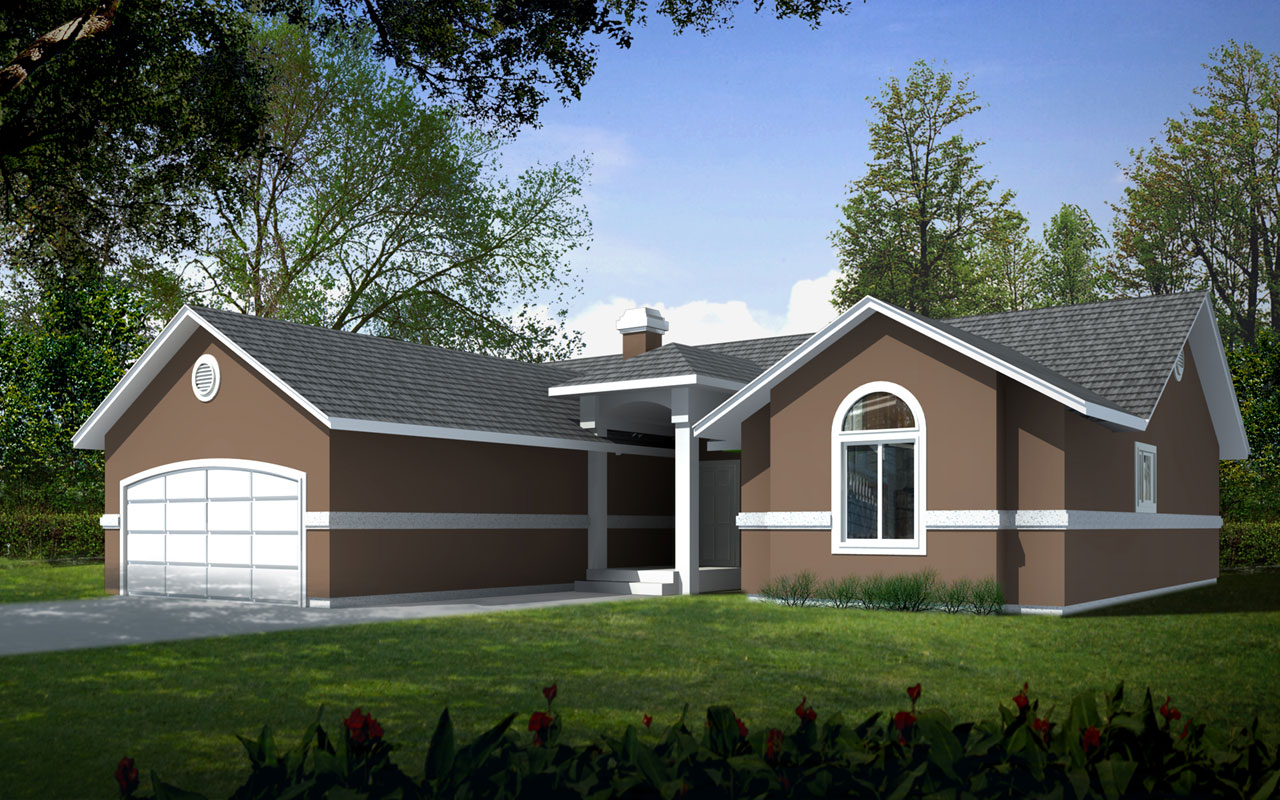 Traditional Style Home Design Plan: 1-230