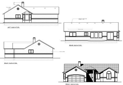 Rear Elevation Plan: 1-230