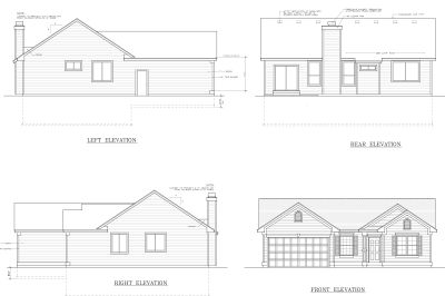 Rear Elevation Plan: 1-232