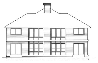 Rear Elevation Plan: 1-235
