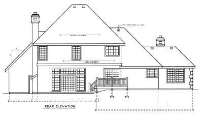 Rear Elevation Plan: 1-236