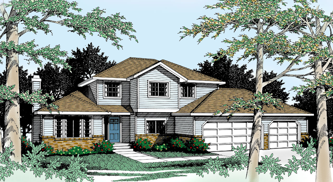 Traditional Style Home Design Plan: 1-237