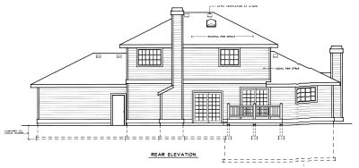 Rear Elevation Plan: 1-237