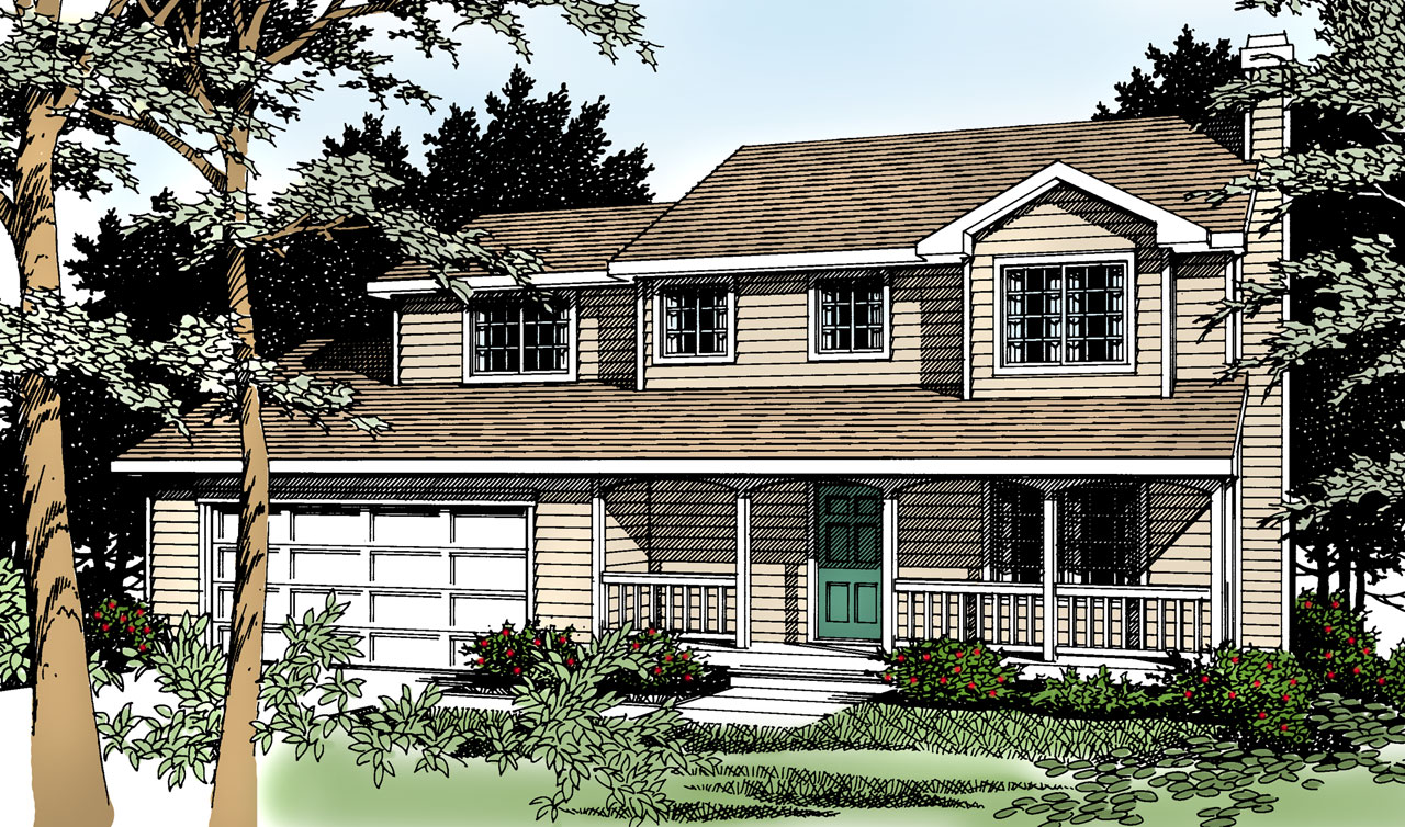 Country Style House Plans Plan: 1-238