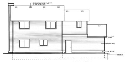 Rear Elevation Plan: 1-238