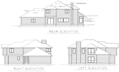 Rear Elevation Plan: 1-239
