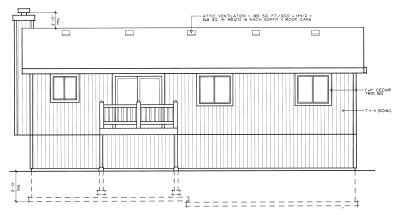 Rear Elevation Plan: 1-241