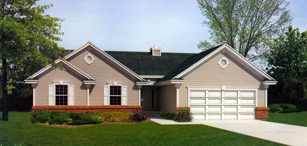 Ranch Style Home Design 1-242