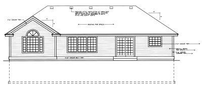 Rear Elevation Plan: 1-243