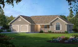 Country Style Home Design 1-243