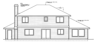Rear Elevation Plan: 1-248