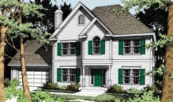Colonial Style House Plans Plan: 1-249