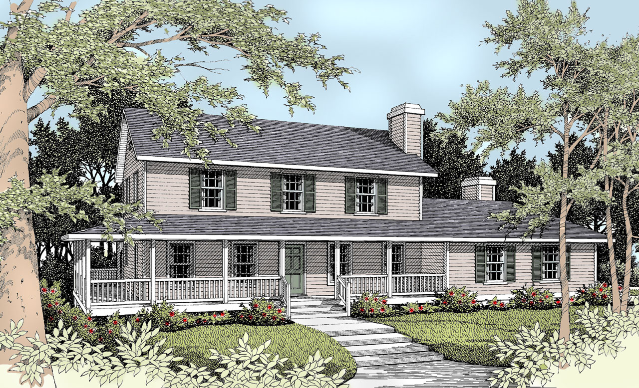 Farm Style Home Design Plan: 1-250