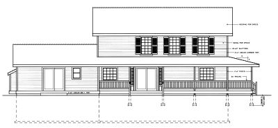 Rear Elevation Plan: 1-250