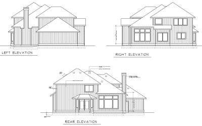 Rear Elevation Plan: 1-251