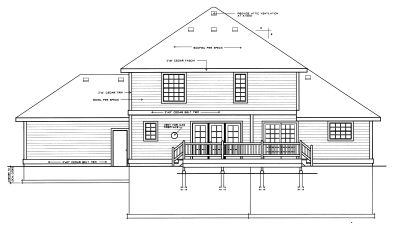 Rear Elevation Plan: 1-253