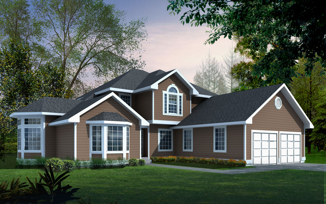 Traditional Style Home Design Plan: 1-254