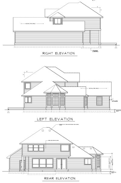 Rear Elevation Plan: 1-254