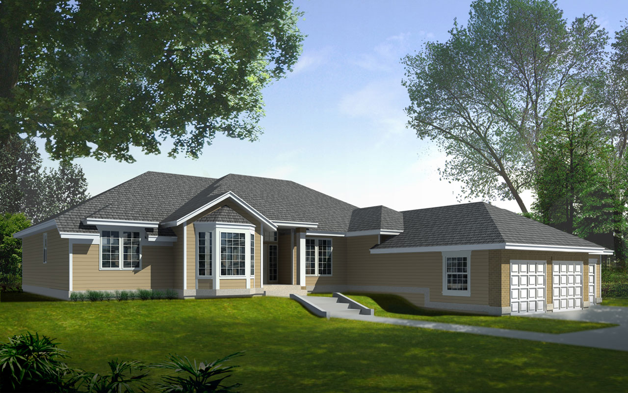 Ranch Style House Plans Plan: 1-255