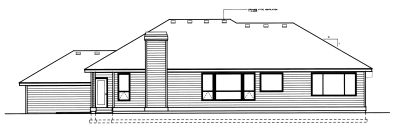Rear Elevation Plan: 1-255