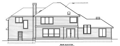 Rear Elevation Plan: 1-257