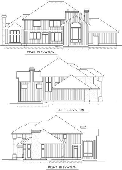 Rear Elevation Plan: 1-258