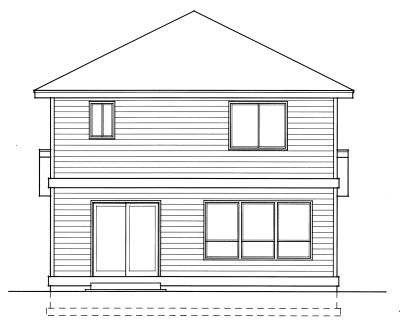 Rear Elevation Plan: 1-259