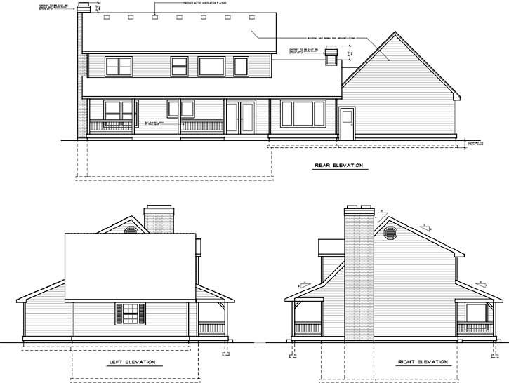 Rear Elevation Plan: 1-260