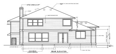 Rear Elevation Plan: 1-261