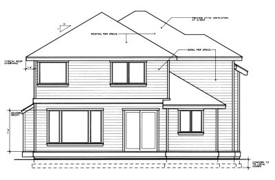 Rear Elevation Plan: 1-263