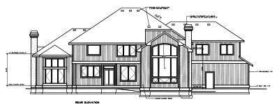 Rear Elevation Plan: 1-264