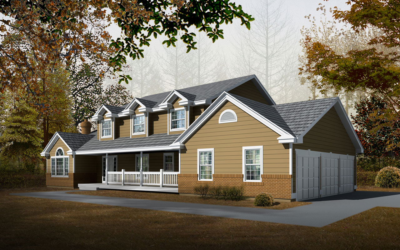 Farm Style Floor Plans Plan: 1-265