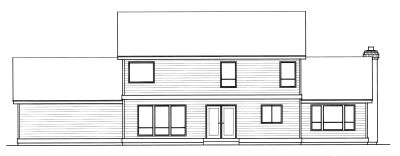 Rear Elevation Plan: 1-265